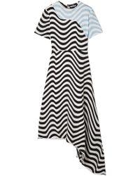 House of Holland - Asymmetric Printed Crepe Midi Dress - Lyst