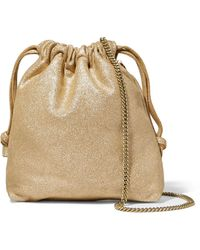 Clare V. - Maison Glittered Suede Pouch - Lyst