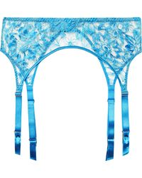 Myla - Columbia Road Embroidered Tulle Suspender Belt - Lyst