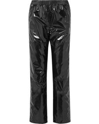 MM6 by Maison Martin Margiela - Vinyl Track Trousers - Lyst