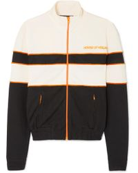House of Holland - 'missy' Contrast Panelled Track Top (black & White) - Lyst