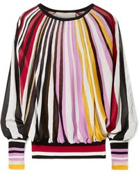 Carolina Herrera - Striped Knitted Jumper - Lyst
