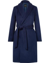 Madewell - Belted Wool-blend Felt Coat - Lyst