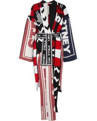 Stella McCartney - Belted Intarsia Wool-blend Robe - Lyst