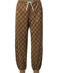 Gucci - Printed Tech-jersey Track Pants - Lyst