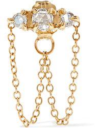Catbird - Sleeping Beauty Gold Diamond Earring Gold One Size - Lyst