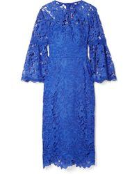 Lela Rose - Guipure Lace Dress - Lyst