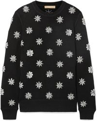Michael Kors - Crystal-embellished Knitted Sweater - Lyst