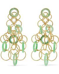 Buccellati | Hawaii 18-karat Gold Jade Earrings | Lyst