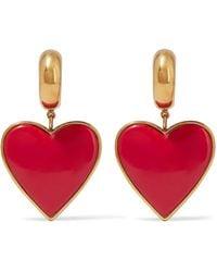 Balenciaga - Gold-tone And Resin Earrings - Lyst