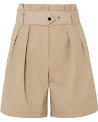 By Malene Birger - Waoi Belted Pleated Canvas Shorts - Lyst