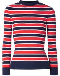 JoosTricot - Peachskin Striped Sweater - Lyst