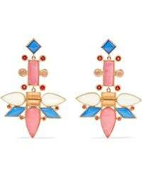 Cora Cushion 14-karat Gold Quartz Earrings - one size Larkspur & Hawk OT8uSu2G