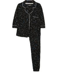 DKNY - Seeing Stars Bedruckter Pyjama Aus Jersey - Lyst