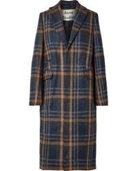 Acne Studios - Checked Wool-blend Coat - Lyst