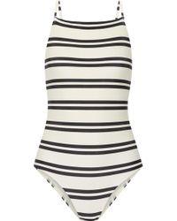 ViX - Classic Drop Cutout Striped Swimsuit - Lyst