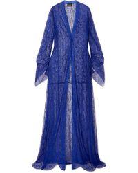Akris - Draped Lace Coat - Lyst