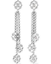 Buccellati - Opera 18-karat White Gold Diamond Earrings - Lyst