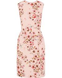 Giambattista Valli - Floral-print Silk-crepe Dress - Lyst