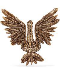 Lanvin - Antiqued Gold-tone Crystal Brooch - Lyst
