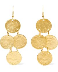 Kenneth Jay Lane - Gold-plated Earrings Gold One Size - Lyst