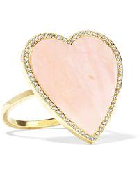 Jennifer Meyer - Bague En Or 18 Carats, Opale Et Diamants Heart - Lyst