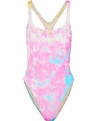Solid & Striped - + Re/done The Venice Cutout Tie-dyed Swimsuit - Lyst