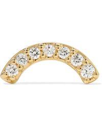Andrea Fohrman - Single Row Rainbow 14-karat Gold Diamond Earring - Lyst