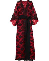 Rosamosario - Madame Shehu Lace And Silk-chiffon Kimono - Lyst