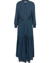 Étoile Isabel Marant - Javene Printed Chiffon Maxi Dress - Lyst