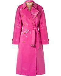 Burberry - Trench-coat En Coton Enduit The Eastheath - Lyst