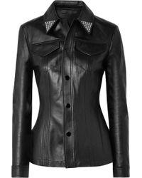 Alexander Wang - Studded Leather Shirt - Lyst