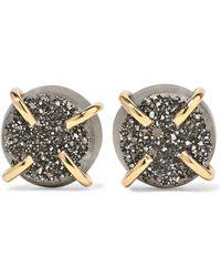 Melissa Joy Manning - 14-karat Gold Druzy Earrings Gold One Size - Lyst