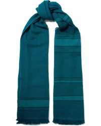 Melt - Lalita Fringed Striped Wool Scarf - Lyst