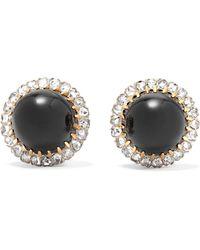Fred Leighton - 18-karat Gold, Platinum, Diamond And Onyx Clip Earrings - Lyst