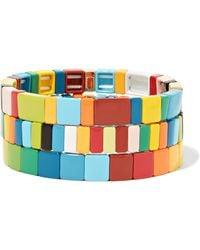 Roxanne Assoulin - Rainbow Brite Set Of Three Enamel Bracelets - Lyst