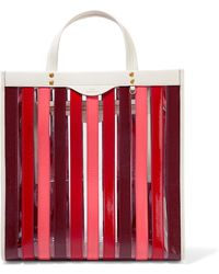 Anya Hindmarch - Panelled Leather And Pvc Tote - Lyst