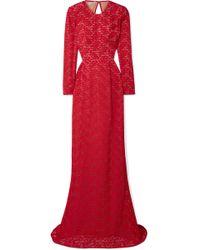 Stella McCartney - Open-back Corded Lace Gown - Lyst