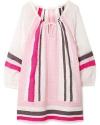 lemlem - Mimi Striped Cotton-blend Gauze Mini Dress - Lyst