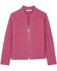 Marc Jacobs - Cable-knit Merino Wool Cardigan - Lyst