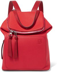 Loewe - Goya Small Textured-leather Backpack - Lyst