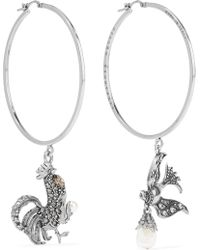 Alexander McQueen | Silver-plated, Crystal And Faux Pearl Earrings | Lyst