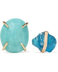Melissa Joy Manning - 14-karat Gold, Apatite And Turquoise Earrings - Lyst