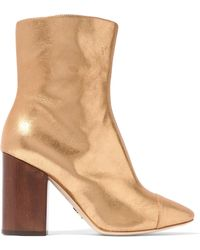 Brother Vellies - Bianca Metallic Brushed-leather Ankle Boots - Lyst