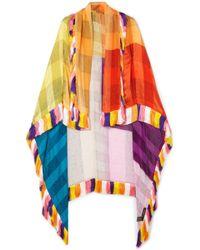 Etro - Fringed Silk-jacquard Wrap - Lyst