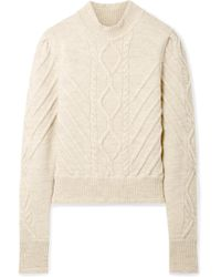 Isabel Marant - Brantley Cable-knit Wool-blend Jumper - Lyst