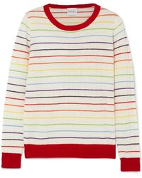 Madeleine Thompson - Pigeon Striped Ribbed Cashmere Jumper - Lyst