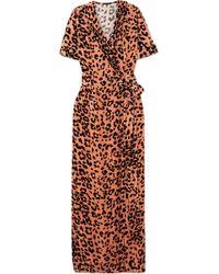 Rosamosario - Leopard-print Velvet Robe - Lyst