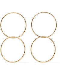 Kenneth Jay Lane - Gold-plated Hoop Earrings - Lyst