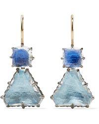 Larkspur & Hawk - Caterina Rhodium-dipped Quartz Earrings - Lyst